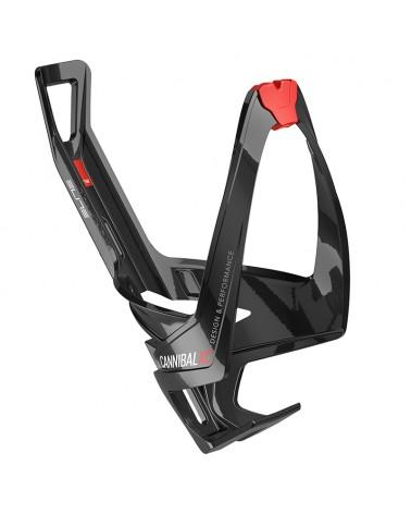 Elite Portaborraccia Cannibal XC Fiberglass, Black Glossy Logo Red