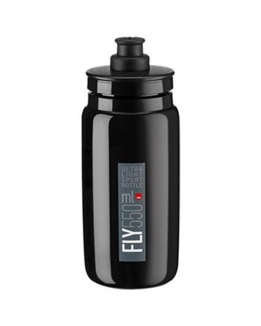 Elite Fly Elite Water Bottle 550ml, Black Logo Grey