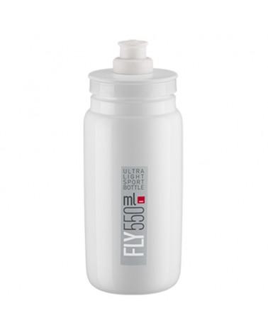 Elite Fly Elite Water Bottle 550ml, White Logo Grey