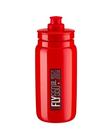 Elite Fly Elite Water Bottle 550ml, Red Logo Bordeaux