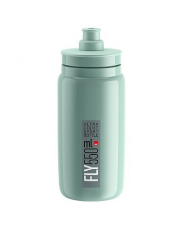 Elite Borraccia Fly Elite 550ml, Verde Logo Grigio