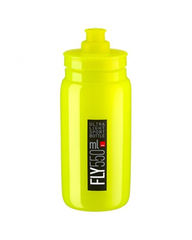 Elite Borraccia Fly Elite 550ml, Giallo Logo Nero