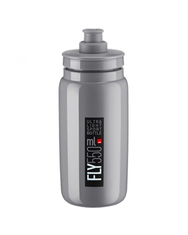 Elite Borraccia Fly Elite 550ml, Grigio Logo Nero